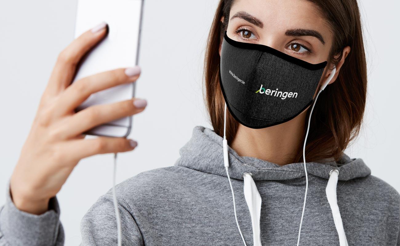 Denim - Printed Face Mask
